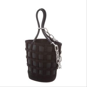 Alexander want rosy cage bucket bag